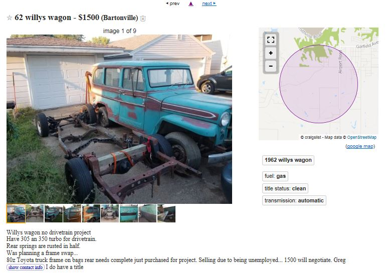 1962 Wagon Old Willys Forum